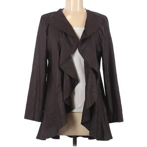 Anthracite by Muse Brown Faux Leather Jacket - M